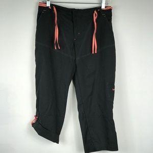 Nike Cargo Capris Black Adjustable Legs Tie Waist